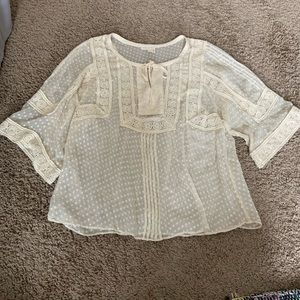 Anthropologie meadow rue top size m